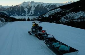 Winter Sled Travel