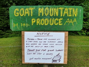 Goat Mt Sign