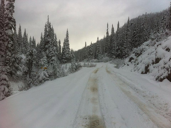 Snow at the Hurley summit at 10am Tuesday Oct 28th, 2014