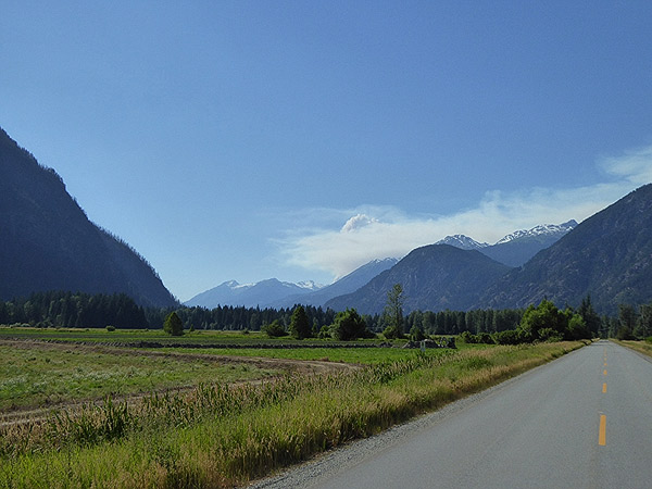 Smoke plume could be seen from the upper Pemberton Meadows