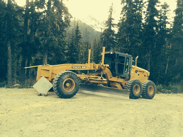 The Grader will be working on the Hurley this week