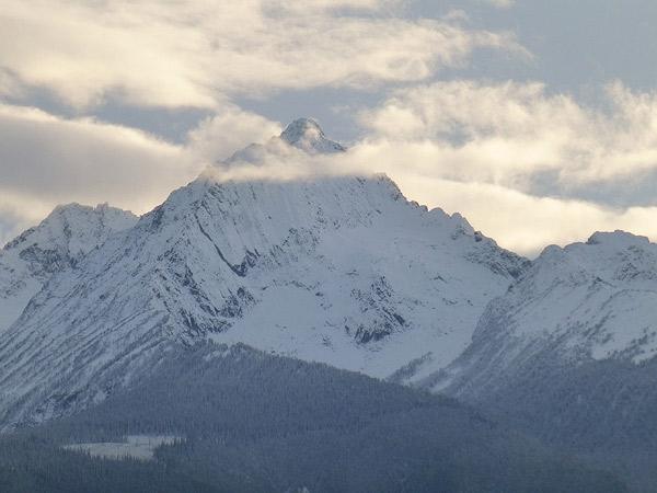 New snow on Mt Sloan