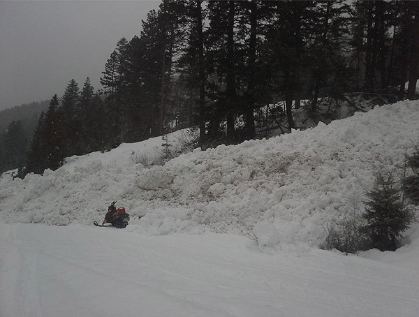 Green Mt avalanche on the Hurley