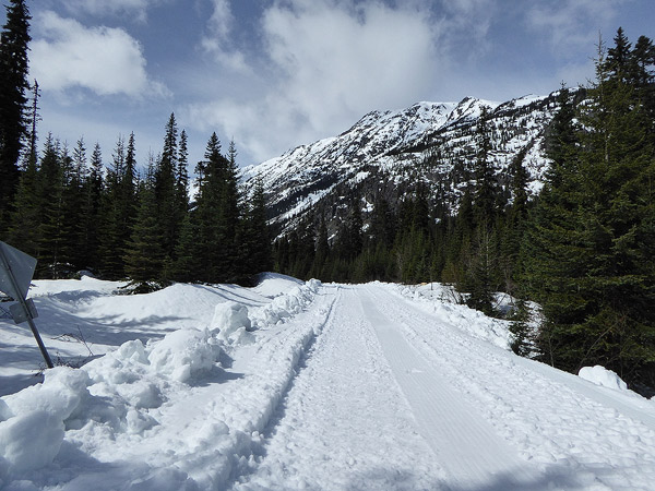 Snow road at Donnelly Creek