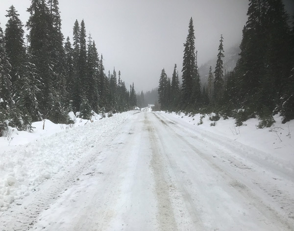 Hurley snow clearing on Oct 6